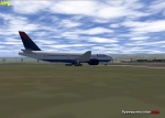 Delta 777 on the grass