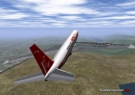 Qantas 707 in Flightgear