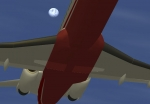 Moon in Flightgear