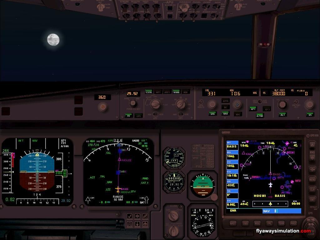 Airbus A330 Cockpit at Night A330 Cockpit at Night