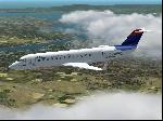 CRJ600 en-route to KSFO