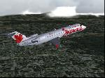 Air Canada Jazz CRJ over Montreal Canada