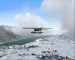 Cessna Caravan over Alaskan Winter Wonderland