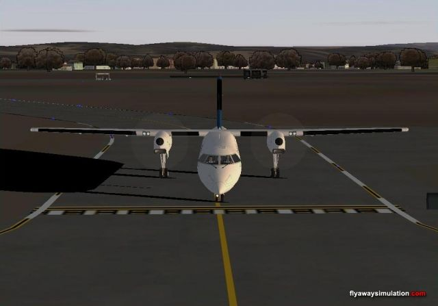 Dash 8 taxing