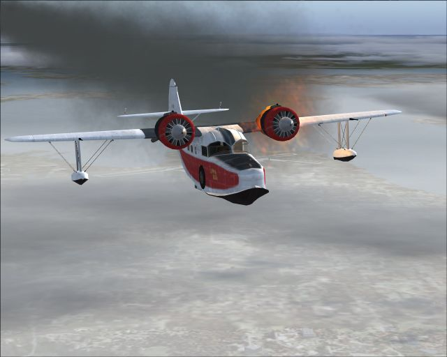 "Grumman ""cooked"" Goose over CT"
