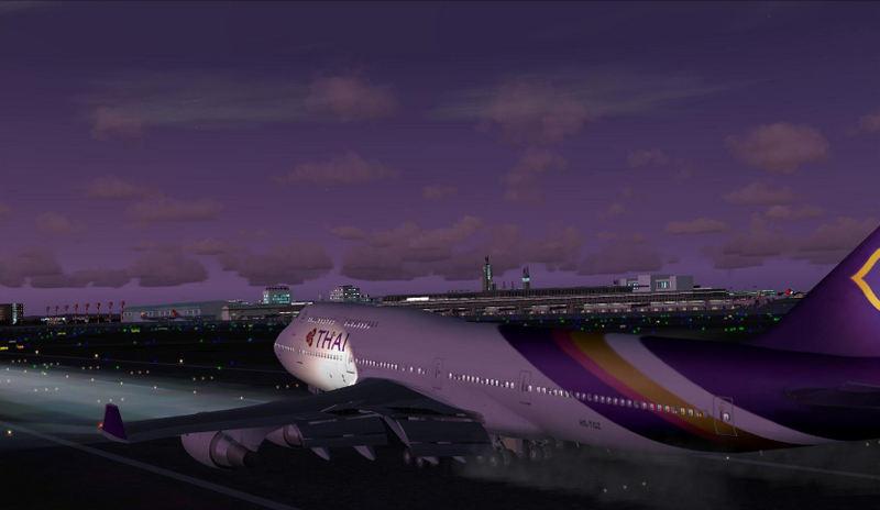 thai airways 747 landed at