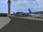 Southwest 737 Approaching Gate