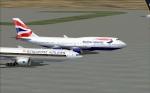 BA 747 at Changi Singapore