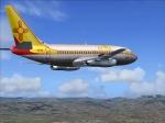 737-200 Del Sol in flight