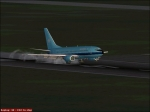 Touchdown with PMDG 737-700 Maersk