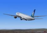 Air New Zealand 777 Climbing