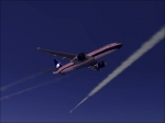 AeroMexico Boeing 777 over North Atlantic