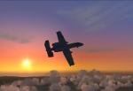 A-10 Thunderbolt with Sunset