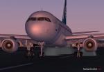 A320 touching down at Christchurch