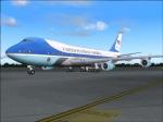 Air Force One at Leonardo Da Vinci Airport