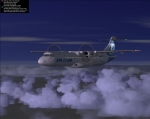 Flight 1 ATR 72-500 at sunrise