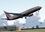 Air Berlin 737 lifting off the ground