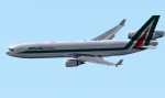 Alitalia MD-11 Approching Rome