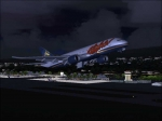 Aloha Airlines B-787 Dreamliner (fictional) departing