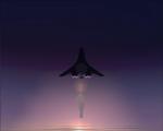 B-2.3 Bomber at dusk