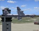 B-36 buzzing the Atlanta tower