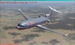 Boeing 727 over Texas