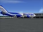 747-400 national at gate
