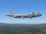Alitalia 747 over hills