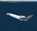 Boeing BWB over Ocean