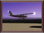 Cessna 152 over lake