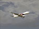 MH738 in flight
