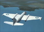 English Electric Canberra B2 approaching Newfoundland.