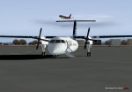Dash 8 Parked at Christchurch