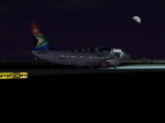 South African taxiing to gate