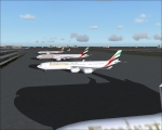 Emirates flights at Dubai Intl