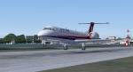 ERJ145 landing at EGLC