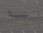Eastern 777 landing in smog