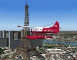 Eiffel Tower Flyby in DHC-3