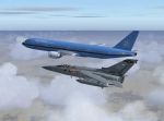 Flying out of Huston on escort duty
