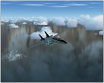 F-14D training mission over Pacific Ocena