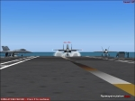F-15 landing on carrier