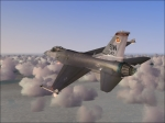 F-16 over clouds