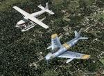 F-86 chasing Cessna Caravan