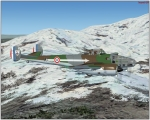 Potez 630 flying over Alps