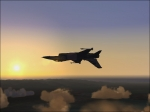 F-16 aerobatics at sunset around KSEA