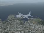 C130 over coast
