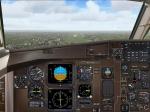 Newcastle app rwy 25: Cockpit View