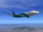 Global Star 738 Descending into KLAS