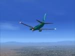 GSA 738 on final at LAS