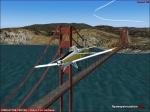 Flying over Golden Gate Bridge